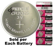 CR2025 - Maxell 3v Lithium Coin Battery