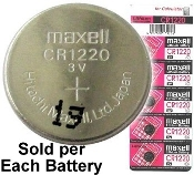 CR1220 - Maxell 3v Lithium Coin Battery