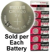 CR1620 - Maxell 3v Lithium Coin Battery